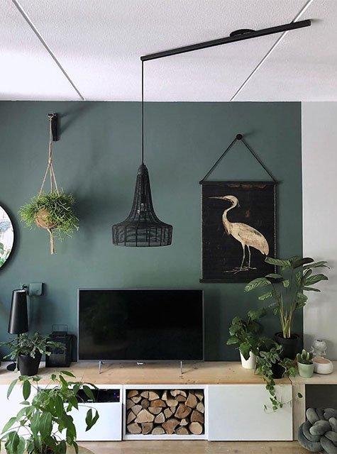 Lightswing TV hoek (Single Mat zwart)