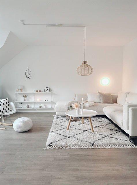 Lightswing Wohnzimmer mit Aufputzring (Single mattweiß)
